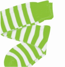 Green and White Striped Knee Socks