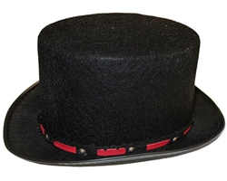 Adult Tuxedo Top Hat - Red