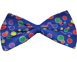 Blue Clown Bow Tie