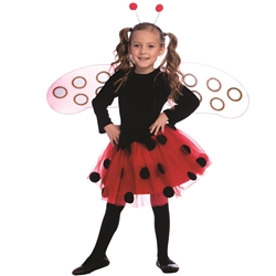Ladybug Dress Costume Set