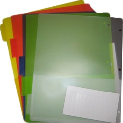 5 Tab Index Dividers with Pockets