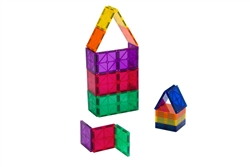 Clear Colors Playmags Magnetic Tiles Building Set 30 Piece Square Tile Set