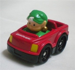Little People Holiday Wheelies Elf in Red Car